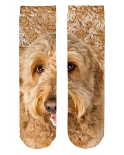 Goldendoodle-Face and Hair Crew Length Socks thumbnail