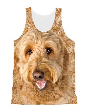 Goldendoodle-Face and Hair All-over Unisex Tank thumbnail