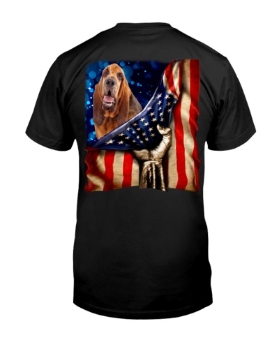 Bloodhound American Flag