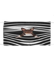 American Hairless Terrier Stripes FM Cloth face mask front