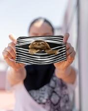 Sloth Stripes FM Cloth face mask aos-face-mask-lifestyle-07