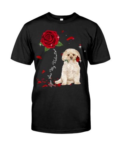 Morkie is My Valentine-Rose