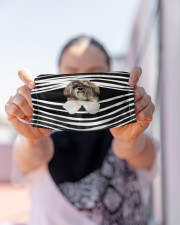 Shih Tzu Stripes FM Cloth face mask aos-face-mask-lifestyle-07