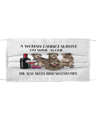 She Also Needs Irish Wolfhound Face