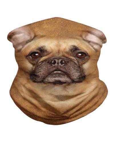 French Bulldog Face 3D BDN