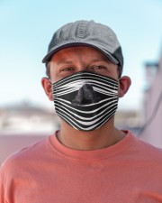 Black Cocker Spaniel Stripes FM Cloth face mask aos-face-mask-lifestyle-06