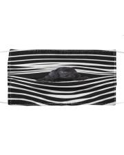 Black Cocker Spaniel Stripes FM Cloth face mask front