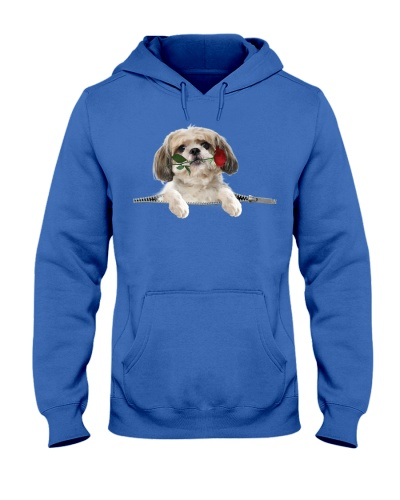 Shih Tzu-Rose-Zipper