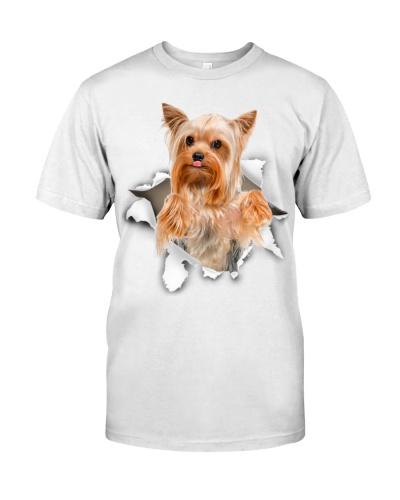 Yorkshire Terrier-Torn Paper Effect