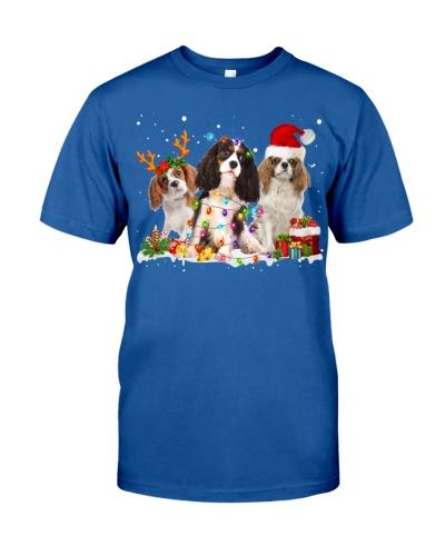 Cavalier King Charles Spaniel-Snow-Christmas
