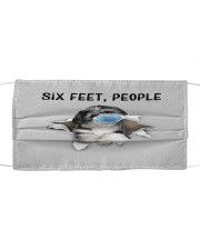 Havanese Six Feet People FM Cloth face mask front