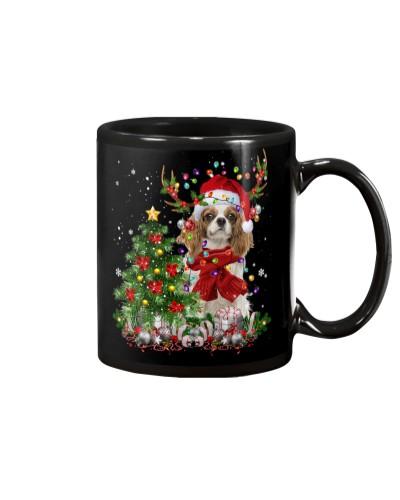 Cavalier King Charles Spaniel-Reindeer-Christmas