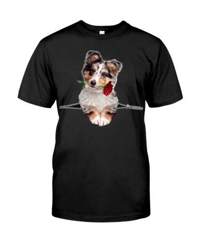Shetland Sheepdog-Rose-Zipper