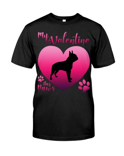 Boston Terrier-My Valentine Has Paws