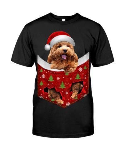 Poodle-Christmas Pocket
