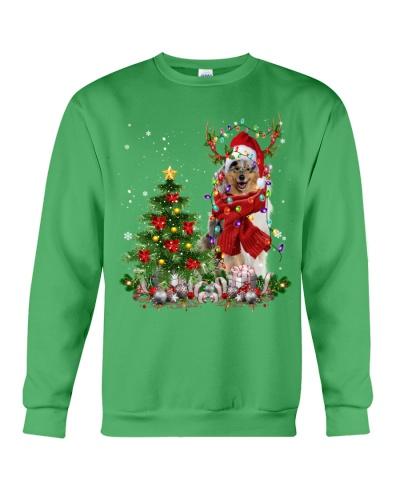 Rough Collie-Reindeer-Christmas