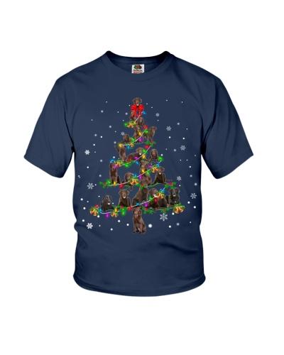 Flat-Coated Retriever- Christmas Tree
