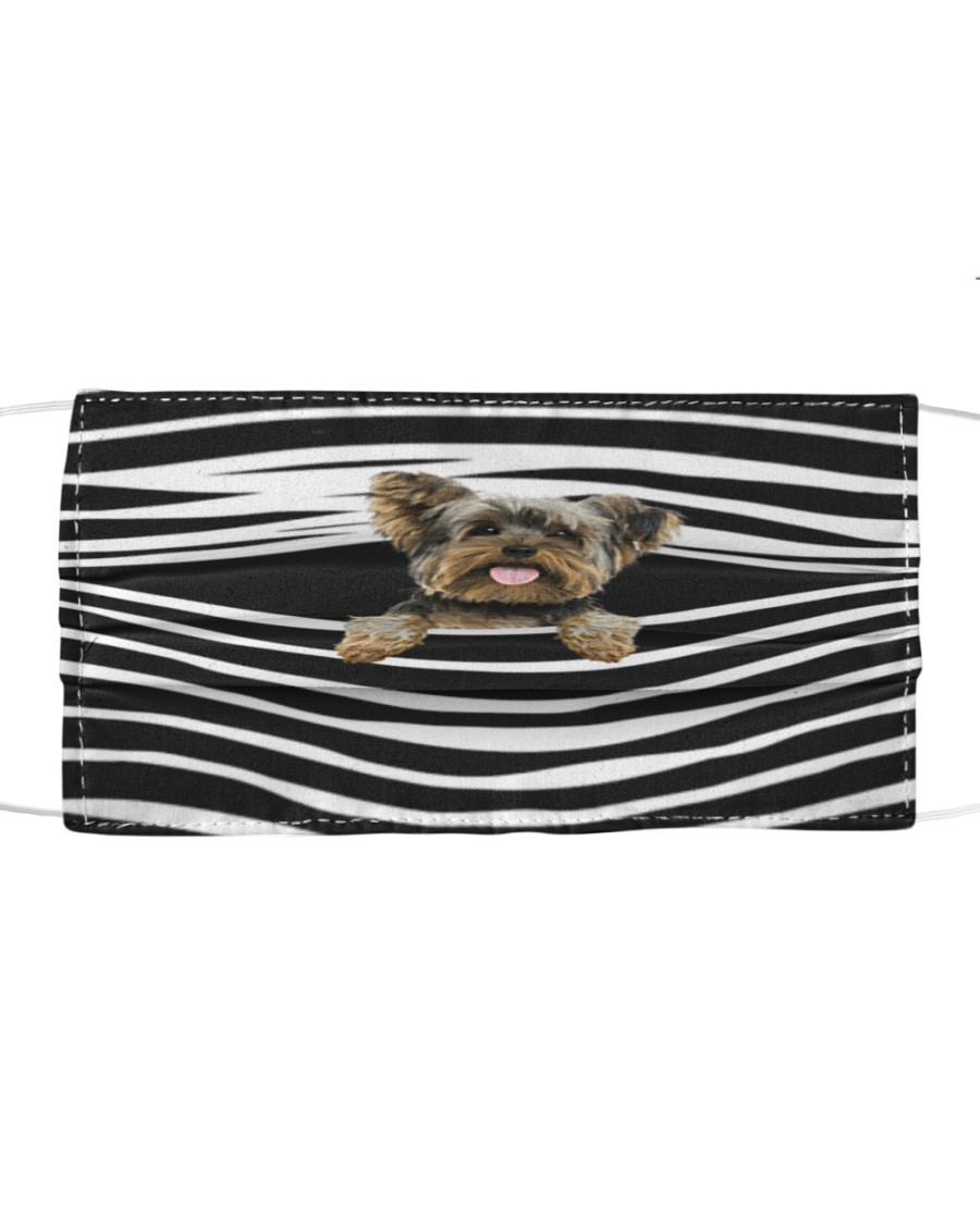 Yorkshire Terrier Stripes FM Cloth face mask