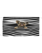 Yorkshire Terrier Stripes FM Cloth face mask front
