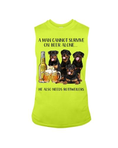 He Also Needs Rottweiler And Beer
