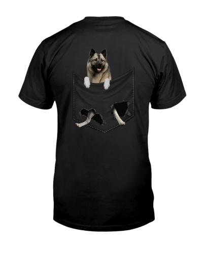 Norwegian Elkhound Back Pocket