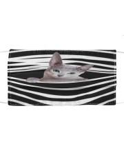 Russian Blue Cat Stripes FM Cloth face mask front