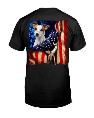 Jack Russell Terrier American Flag