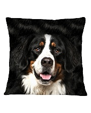 Bernese Mountain Dog -Face and Hair Square Pillowcase thumbnail