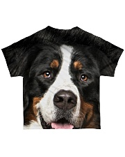 Bernese Mountain Dog -Face and Hair All-over T-Shirt back