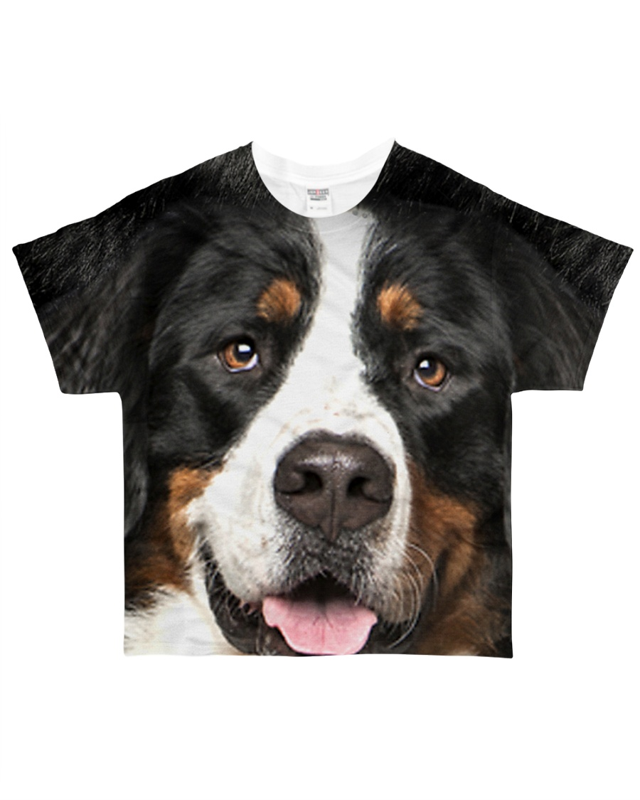 Bernese Mountain Dog -Face and Hair All-over T-Shirt