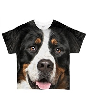 Bernese Mountain Dog -Face and Hair All-over T-Shirt front