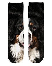 Bernese Mountain Dog -Face and Hair Crew Length Socks thumbnail