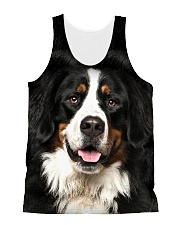 Bernese Mountain Dog -Face and Hair All-over Unisex Tank thumbnail