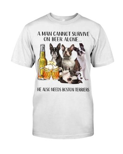 He Also Needs Boston Terrier And Beer