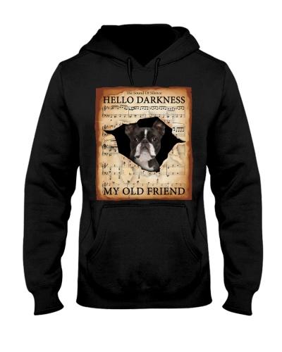 Boston Terrier Hello Darkness Face