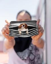 Basset Hound Stripes FM Cloth face mask aos-face-mask-lifestyle-07