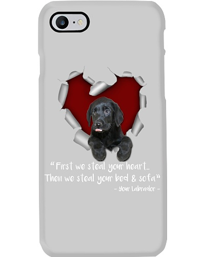 Black Labrador Retriever-Torn Paper Heart
