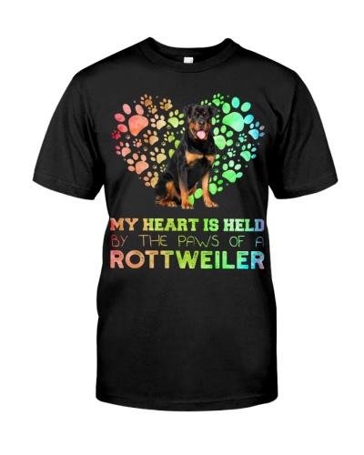 Rottweiler Heart Paw