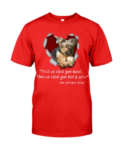 Yorkshire Terrier-Torn Paper Heart