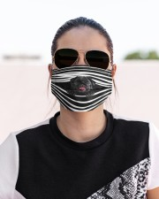 Black Pug Stripes FM Cloth face mask aos-face-mask-lifestyle-02
