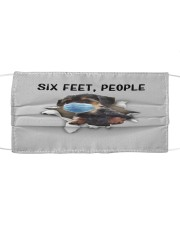Dorkie Six Feet People FM Cloth face mask front