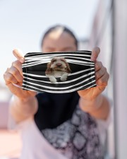 Grand Basset Griffon Vendeen Stripes FM Cloth face mask aos-face-mask-lifestyle-07