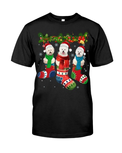 Bichon Frise-Christmas Sock