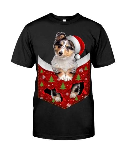 Shetland Sheepdog-Christmas Pocket