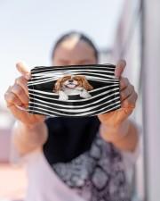 Cavalier King Charles Spaniel Stripes FM Cloth face mask aos-face-mask-lifestyle-07