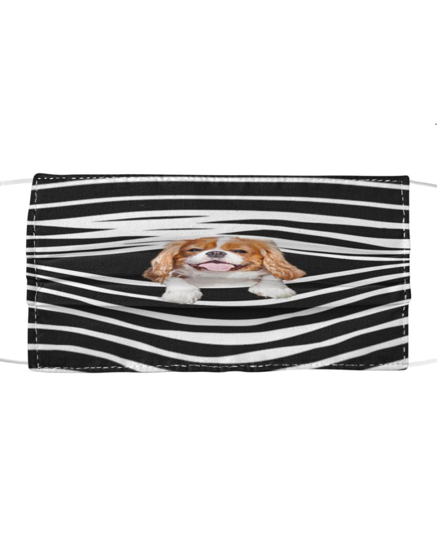 Cavalier King Charles Spaniel Stripes FM Cloth face mask
