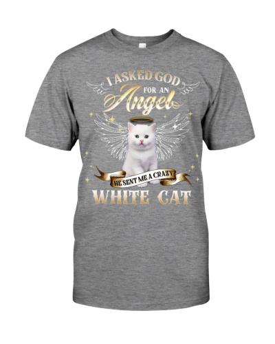 Crazy Angel-White Cat 2