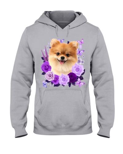 Pomeranian-Purple Flower