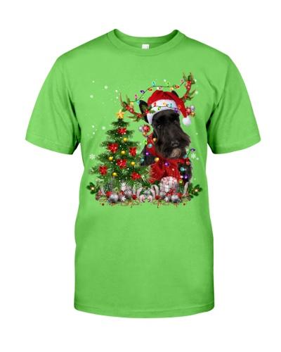 Scottish Terrier-Reindeer-Christmas