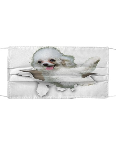 Poodle Torn Paper Face